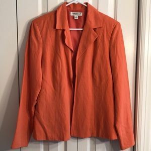 3/$15 Coldwater creek sz M silk -linen jacket EUC